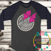 Volleyball with Bow SVG DXF PNG