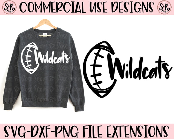 Wildcats Football School Spirit SVG DXF PNG (2019)