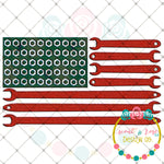 Wood Grain Tool American Flag Sublimation Design