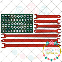 Wood Grain Tool American Flag Printable Design