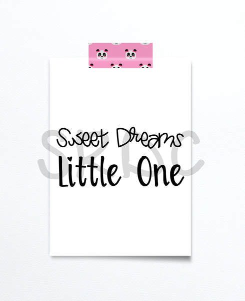 Sweet Dreams Little One SVG DXF PNG