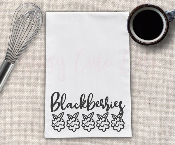 Blackberries Tea Towel Design Cut File