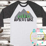 Adventure Mountain Sunset SVG DXF PNG