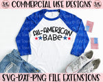 All-American Babe SVG DXF PNG (2020)
