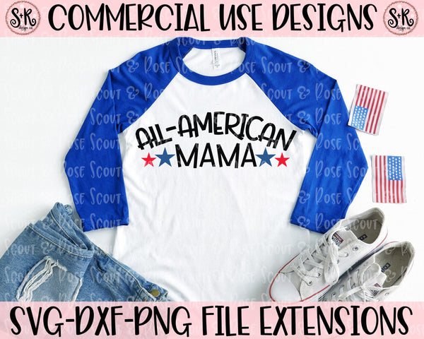 All-American Mama SVG DXF PNG (2020)