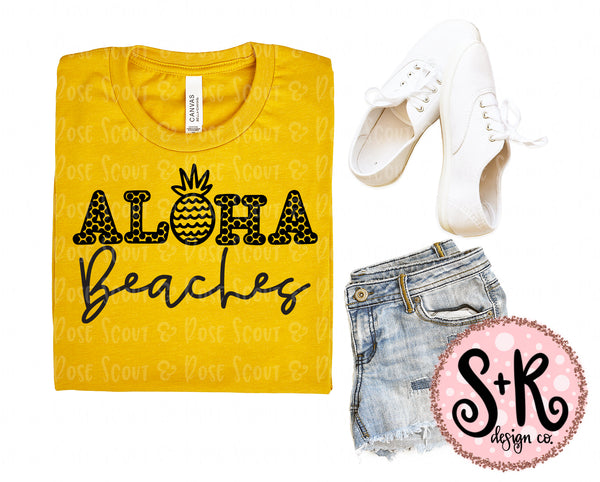 Aloha Beaches Pineapple SVG DXF PNG (2019)