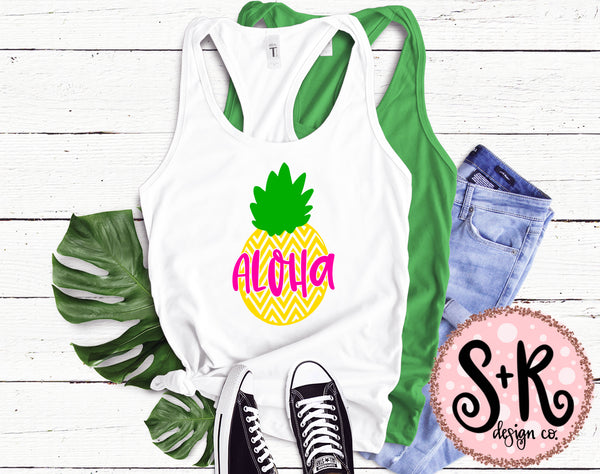 Aloha Summer Pineapple SVG DXF PNG (2019)