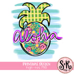 Aloha Pineapple Printable Design (2019)