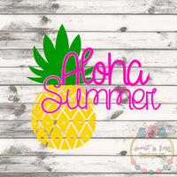 Aloha Summer Pineapple SVG DXF PNG