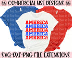 America Stacked Grunge SVG DXF PNG (2020)
