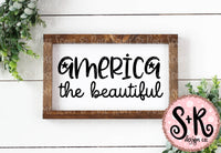 America The Beautiful Sign SVG DXF PNG (2019)
