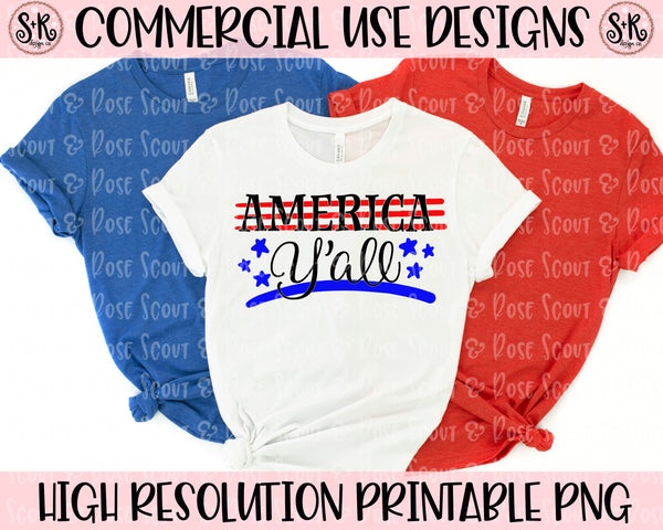 America Y'all Patriotic SVG DXF PNG (2019)