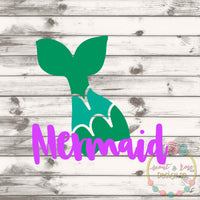 Mermaid Tail SVG DXF PNG