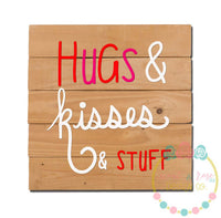 Hugs and Kisses and Stuff SVG DXF PNG