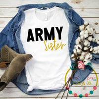 Army Sister SVG DXF PNG (2019)