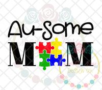 Au-some Mom SVG DXF PNG