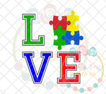Autism LOVE SVG DXF PNG
