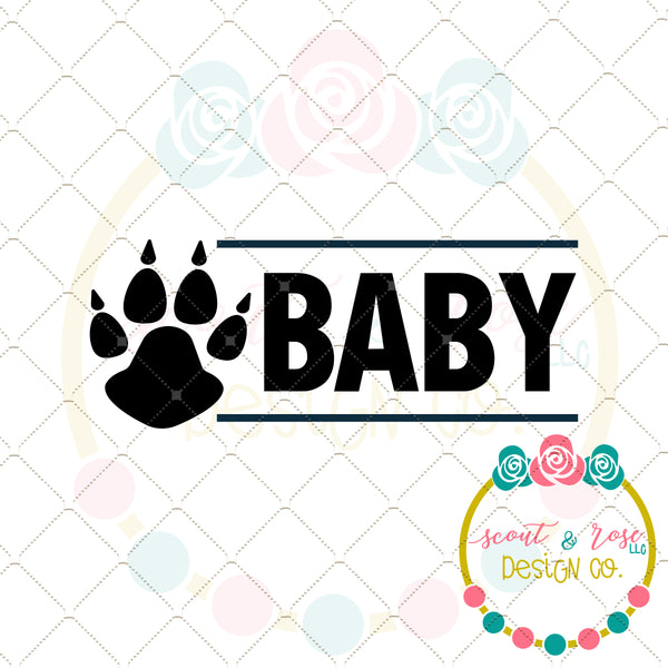 FREE SVG Baby Bear Paw DXF PNG