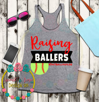 Softball Mum Baller SVG DXF PNG