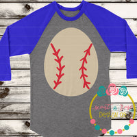 Baseball Easter Egg SVG DXF PNG