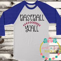 Baseball Y'all SVG DXF PNG