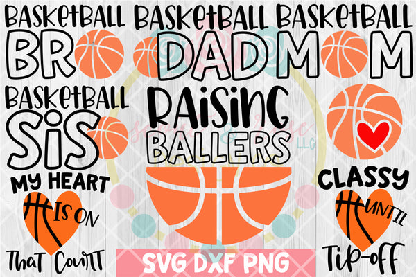 Basketball Bundle SVG DXF PNG 8 Cutting Files