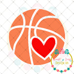 Basketball Heart SVG DXF PNG