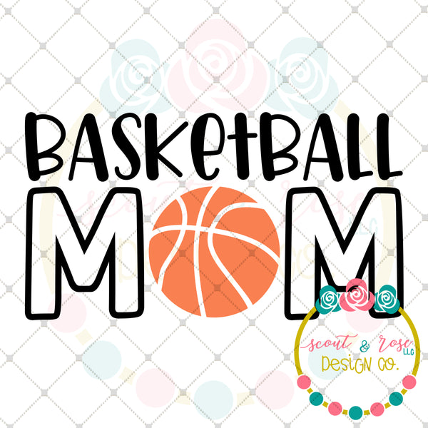Basketball Mom SVG DXF PNG