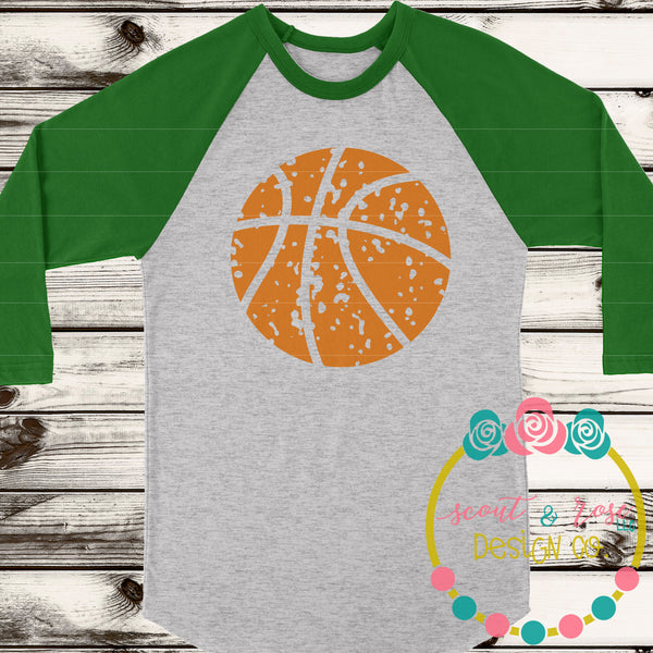 Basketball Grunge SVG DXF PNG
