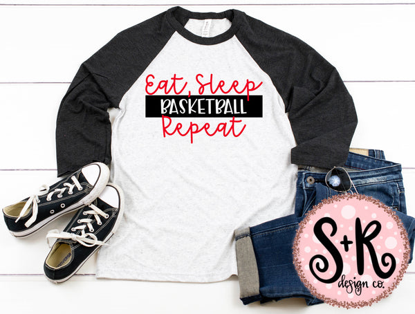 Eat Sleep Basketball Repeat SVG DXF PNG (2019)