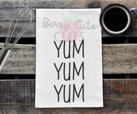 Yum Yum Yum Tea Towel Design Cut File