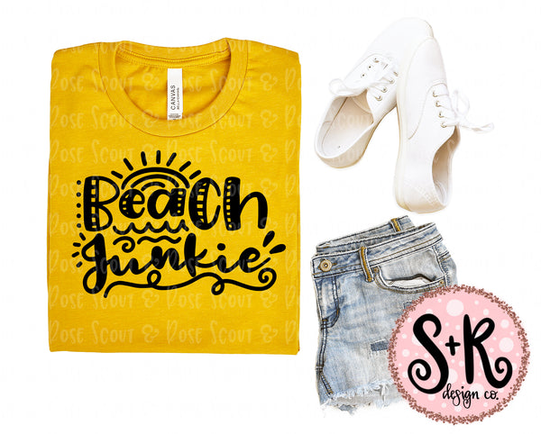 Beach Junkie SVG DXF PNG (2019)