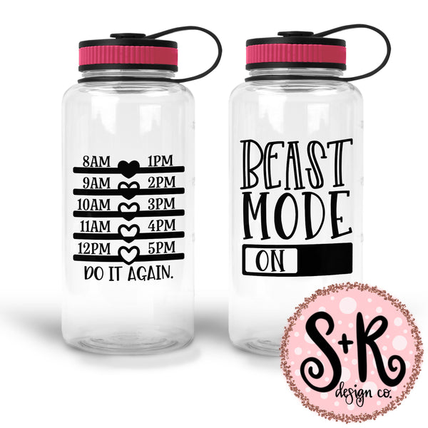 Beast Mode On w/ Water Tracker SVG DXF PNG (2019)