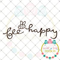 Bee Happy SVG DXF PNG