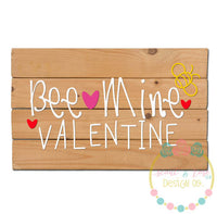 Bee Mine Valentine SVG DXF PNG