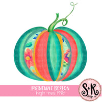 Floral Pumpkin Printable Design (2019)