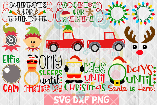 BIG Christmas Bundle SVG DXF PNG 27 Cutting Files