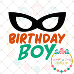 Superhero Birthday Boy SVG DXF PNG
