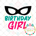 Superhero Birthday Gir SVG DXF PNG