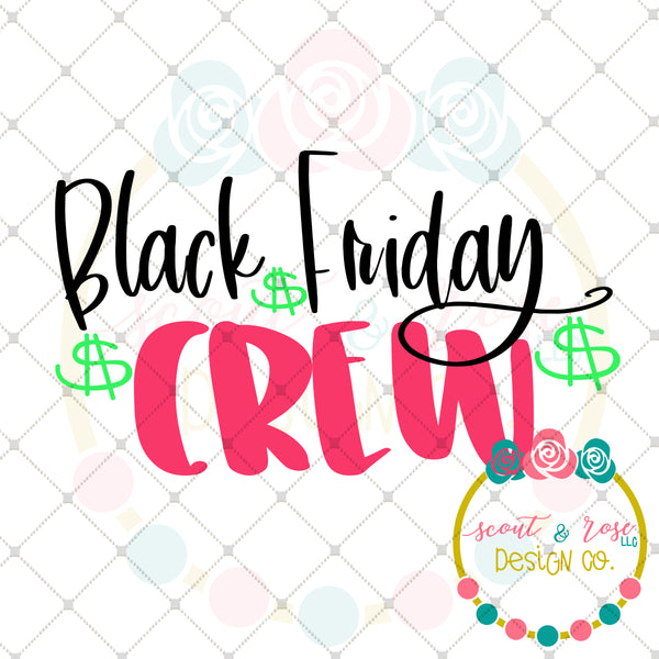 Black Friday Crew SVG DXF PNG