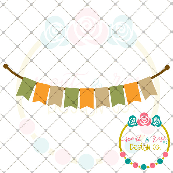 Fall Banner Plain SVG DXF PNG