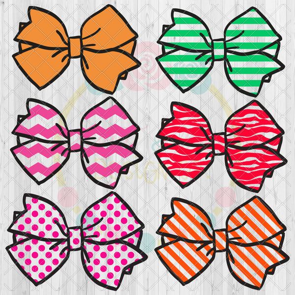 Design Your Own Bow Set SVG DXF PNG