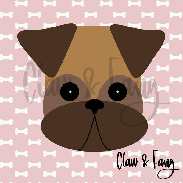 Claw & Fang Boxer Dog Cut File