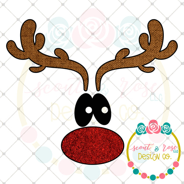 Cute Rudolph Sublimation Design