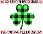 Buffalo Plaid Shamrock SVG DXF PNG (2020)