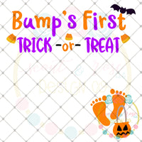Bump's First Trick or Treat SVG DXF PNG