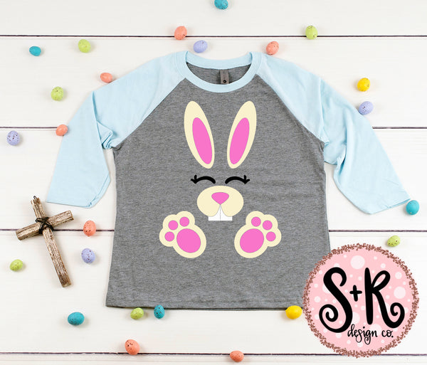 Easter Bunny with Paws SVG DXF PNG