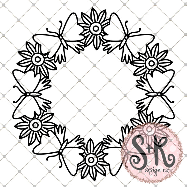 Floral Wreath SVG DXF PNG (2019)