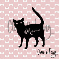 Claw & Fang Cat Meow Cut File