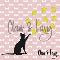 Claw & Fang Cat Stars Cut File